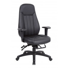 Zeus 24hr Leather Task Chair ZEU300K2